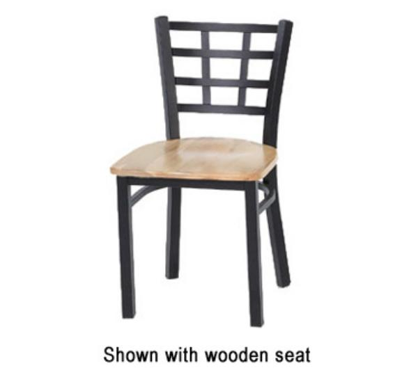 Waymar Industries C312 Park Avenue IV Side Chair Metal Grid Back 1-1/2in Upholstered Seat Restaurant Supply