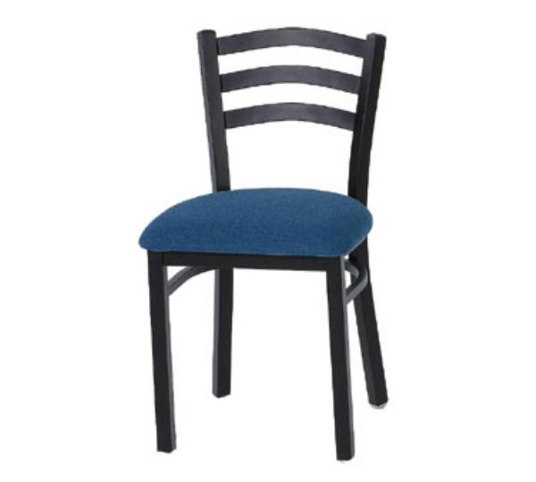 Waymar Industries C313 Park Avenue IV Side Chair Metal Ladder Back 1-1/2in Upholstered Seat Restaurant Supply