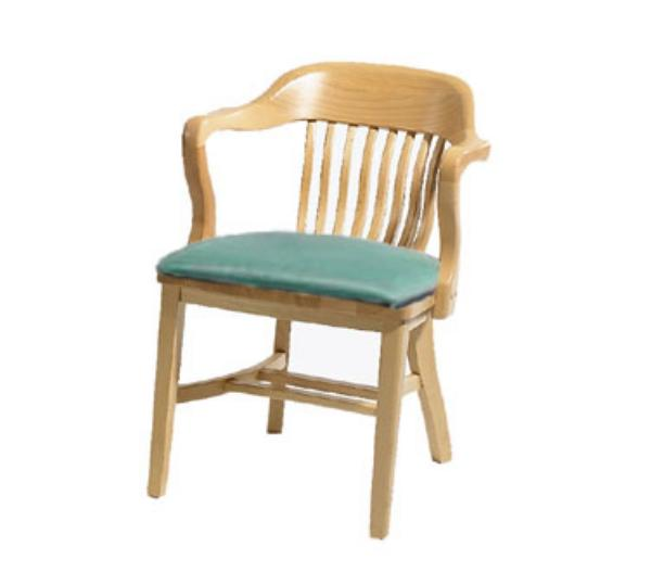 Waymar C314A Federal Arm Chair, Wood Spoke Back, 1-1/2in Upholstered Seat