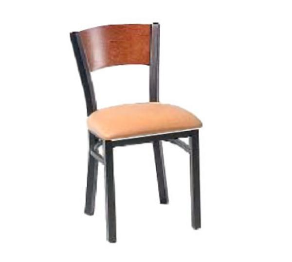 Waymar C315C Park Avenue III Side Chair, Contoured Wood Back, 1-1/2in Upholstered Seat
