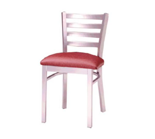 Waymar C316 Park Avenue Side Chair, Metal Ladder Back, 1-1/2in Uphostered Seat
