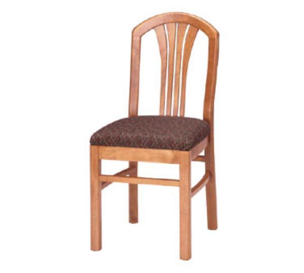 Waymar C32 Metropolitan Side Chair, Wood Fan Back, 1-1/2in Upholstered Seat