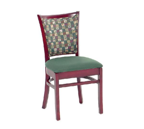Waymar C415UB Museum Side Chair, Upholstered Square Back, 1-1/2in Upholstered Seat