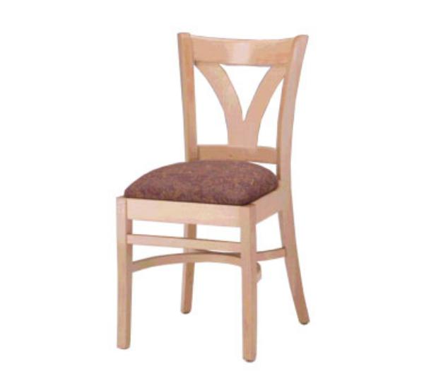 Waymar C57 Metropolitan Side Chair, Wood V Back, 1-1/2in Upholstered Seat
