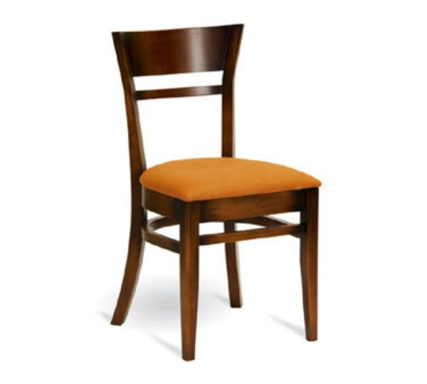 Waymar Industries C63 Venice Side Chair Flared Wood Back 1-1/2in Upholstered Seat Restaurant Supply