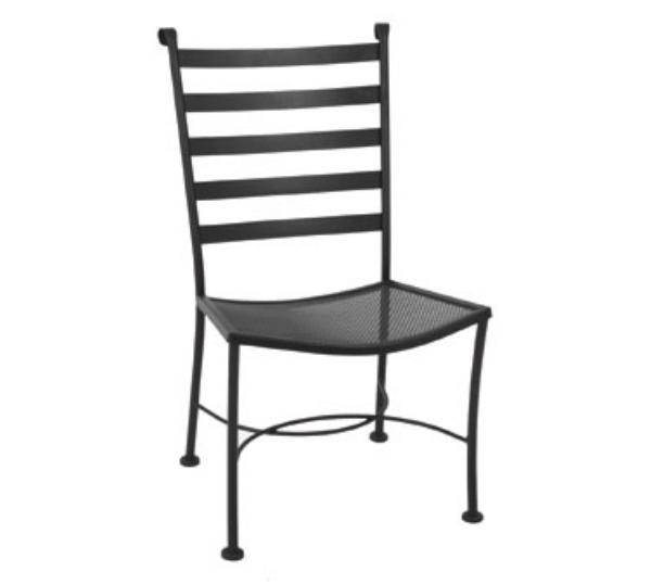 Waymar C816 Patio Side Chair, Ladder Back, Wrought Iron