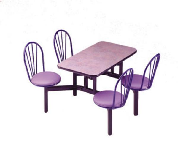 Waymar CA4WF Cascade Seating Support, Seat Chairs(4), Table (24 in x 48 in), Wall
