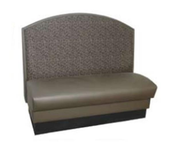 Waymar Industries CAM48S Cambridge Booth 48 in Single Arched Back Upholstered Restaurant Supply