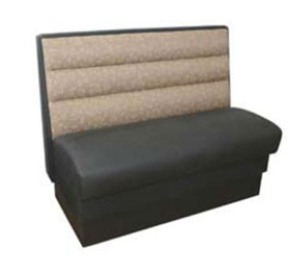 Waymar Industries COR30D Cornell Booth Double Horizontal Channel Back Upholstered 30inL Restaurant Supply