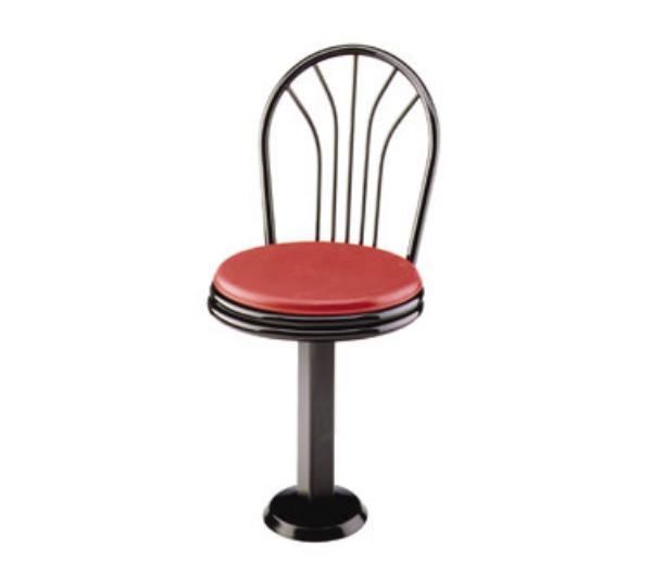 Waymar CS251 Parlor Chair Seat, Metal Fan Back, Metal Frame, Swivel Seat