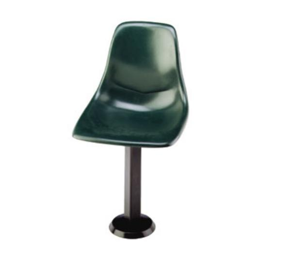 Waymar CSSF99 Shell Chair Seat, 18in W, One Piece, Molded Fiberglass, Swivel