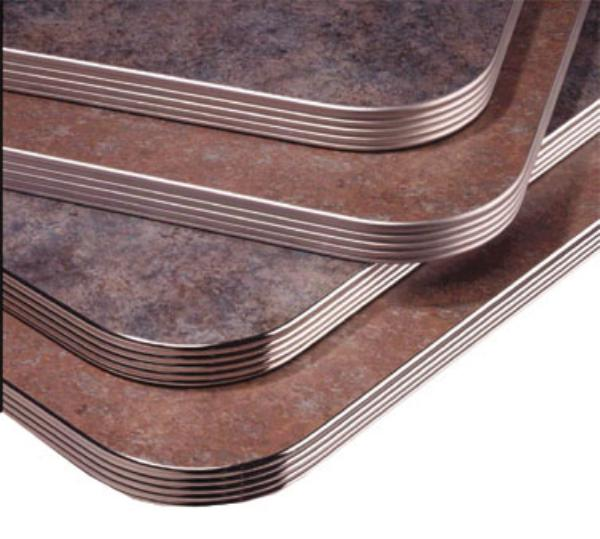 Waymar MP01253672 Tabletop, 36 in x 72 in, 1-1/4 in Thick, Laminate w/ Ribbed Metal Perimeter