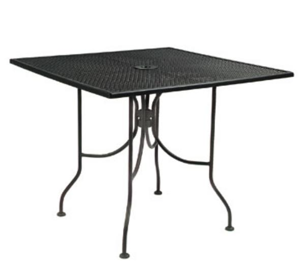 Waymar MT293636M Patio Outdoor Table, 36 x 36 in, Metal Mesh Grid Top