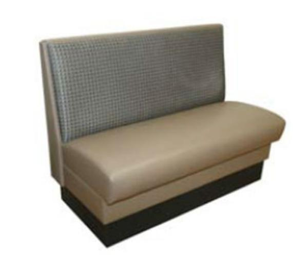 Waymar STA48S St. Andrews Booth, Single, Plain Back, Upholstered, 48 in L