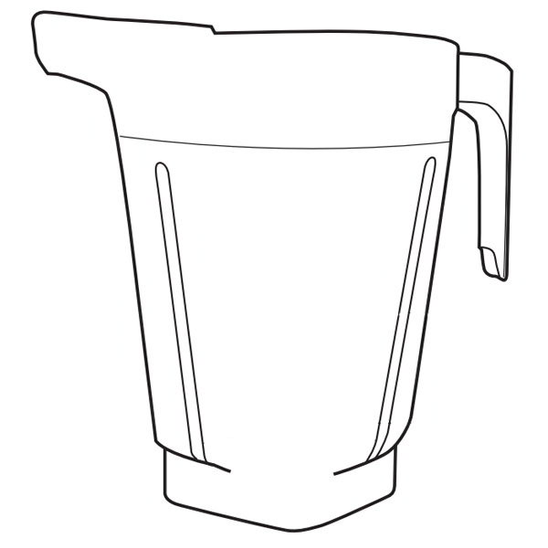 Vitamix 15896 1.5-gal Container For XL Blending System , No Lid, Plug, & Blade