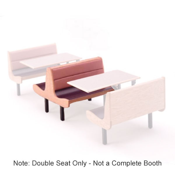H Park Seating BW144DW Briarwood Double Seat, 44 in L, Upholstered Back, Laminate Seat, Wood Ends