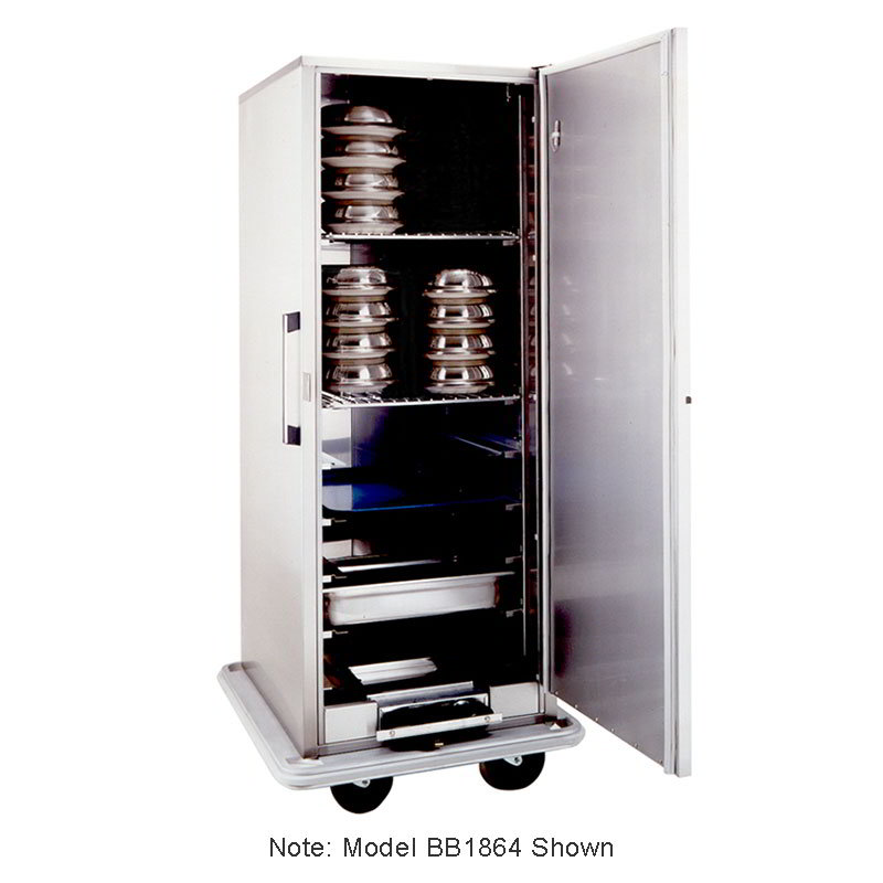 Carter-Hoffmann BB1848 Heated Space-Saver Banquet Cabinet, 48-Plate Capacity, Stainless