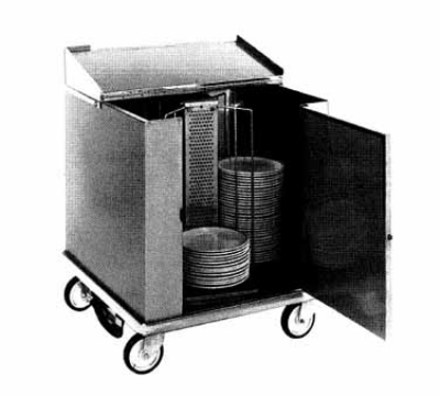 Carter-hoffmann CD252H Heated Enclosed Dish Cart, 252-Dividers for 11-in Plates