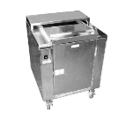 Carter-hoffmann CD27 Heated Enclosed Dish Cart, 160-Dividers for 9-in Plates or Bowls