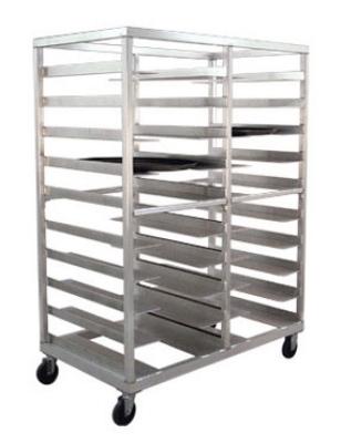 Carter-hoffmann O1620 Pan Rack w/ 20-Oval Tray Capacity, Aluminum