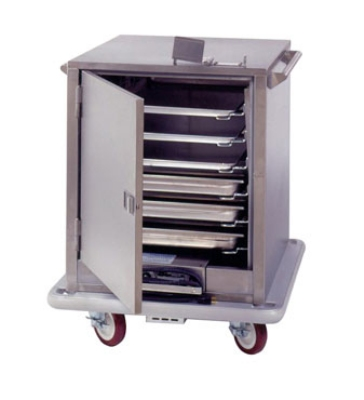 Carter-Hoffmann ST181 1/2-Height Heated Transport Cart w/ Removable Slides, 6-Trays