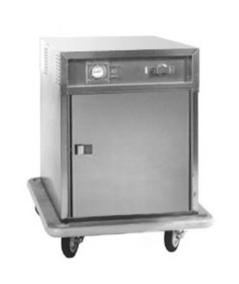 Carter-Hoffmann ST188 1/2-Height Heated Transport Cart w/ Top-Mount Heater, 6-Trays