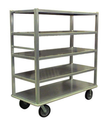 Carter-Hoffmann T544 China/ Silver Transporter w/ Open Design, (4) 27x54-in Shelves