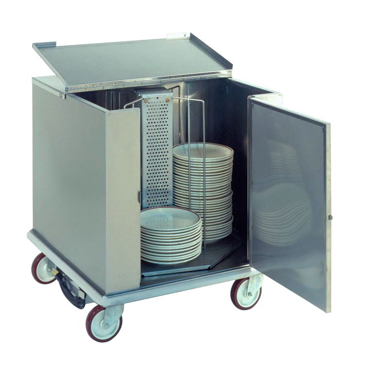 Carter-Hoffmann CD260H Heated Enclosed Dish Cart, Dish Dividers for 252 12.5-in Plates