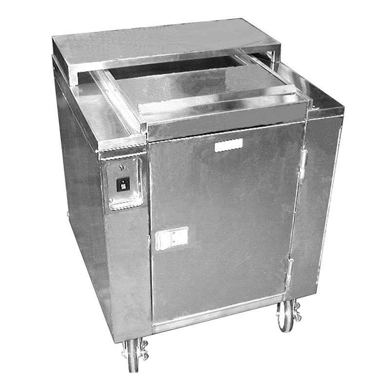 Carter-Hoffmann CD27 Heated Enclosed Dish Cart, Dish Dividers for 160 9-in Plates or Bowls