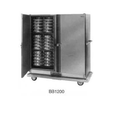 Carter-hoffmann BB1000 Heated Banquet Cart, 2-Door, 96-Plate Capacity, Stainless