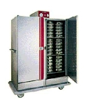 Carter-Hoffmann BB1600 Heated Banquet Cabinet, 2-Door, 150-Plates, Casters, Stainless