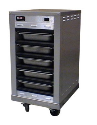 Carter-Hoffmann DF2012-5 Half Size Doorless Holding Cabinet, (5) 12 x 20-in Pans, Side Loaded