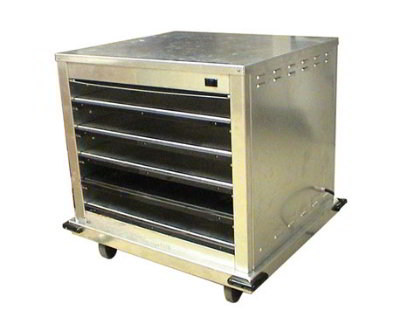 Carter-hoffmann DF2620-5 Half Size Doorless Holding Cabinet, (10) 12 x 20-in Pans, Side Loaded