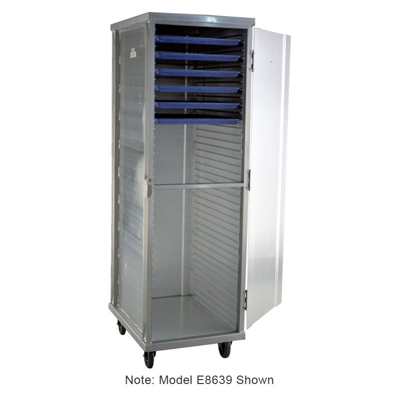 Carter-Hoffmann E8631 Enclosed Cabinet w/ Hinged Doors, Extruded Side Panels, 31-Trays