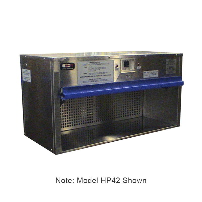 "Carter-Hoffmann HP38 38"" Plate Warmer w/ Removable Grease Filters, Flip-Up Door"