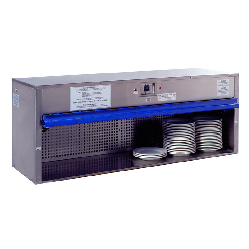 "Carter-Hoffmann HP58 58"" Plate Warmer w/ Removable Grease Filters, Flip-Up Door"