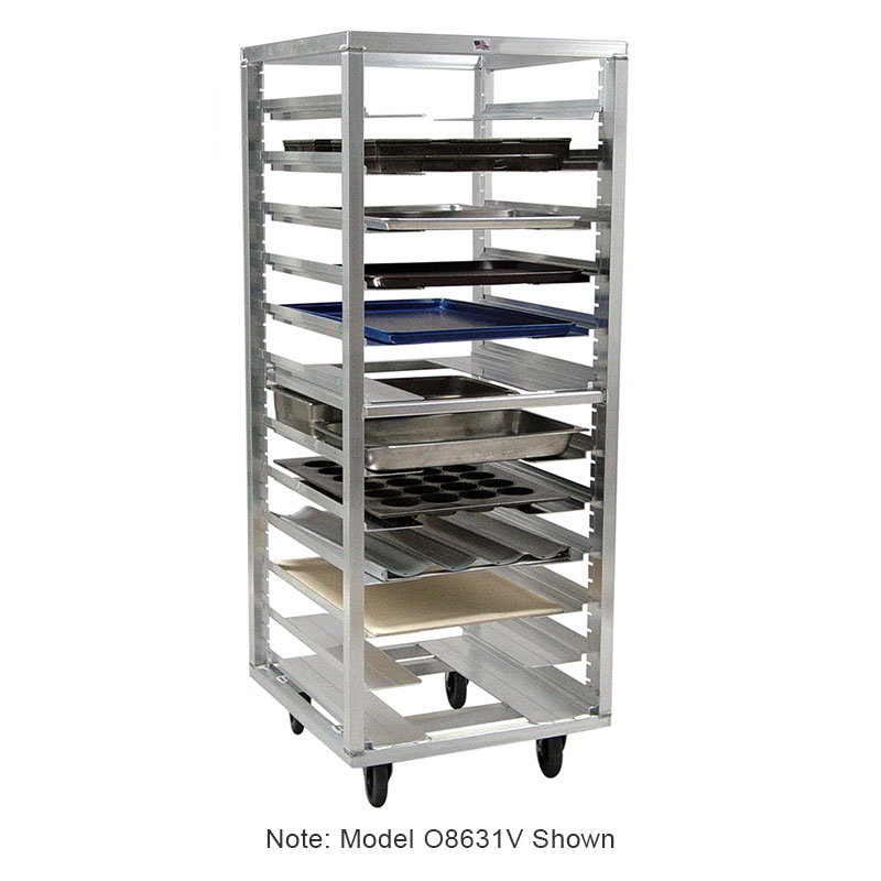 "Carter-Hoffmann O1838C 55"" End Load Pan Rack w/ Open Sides, 38-Tray Capacity"