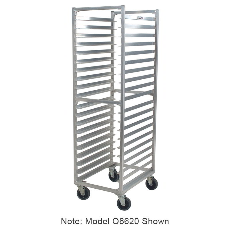 "Carter-Hoffmann O8616W 57-3/16"" Side Load Pan Rack w/ Open Sides, 16-Tray Capacity"