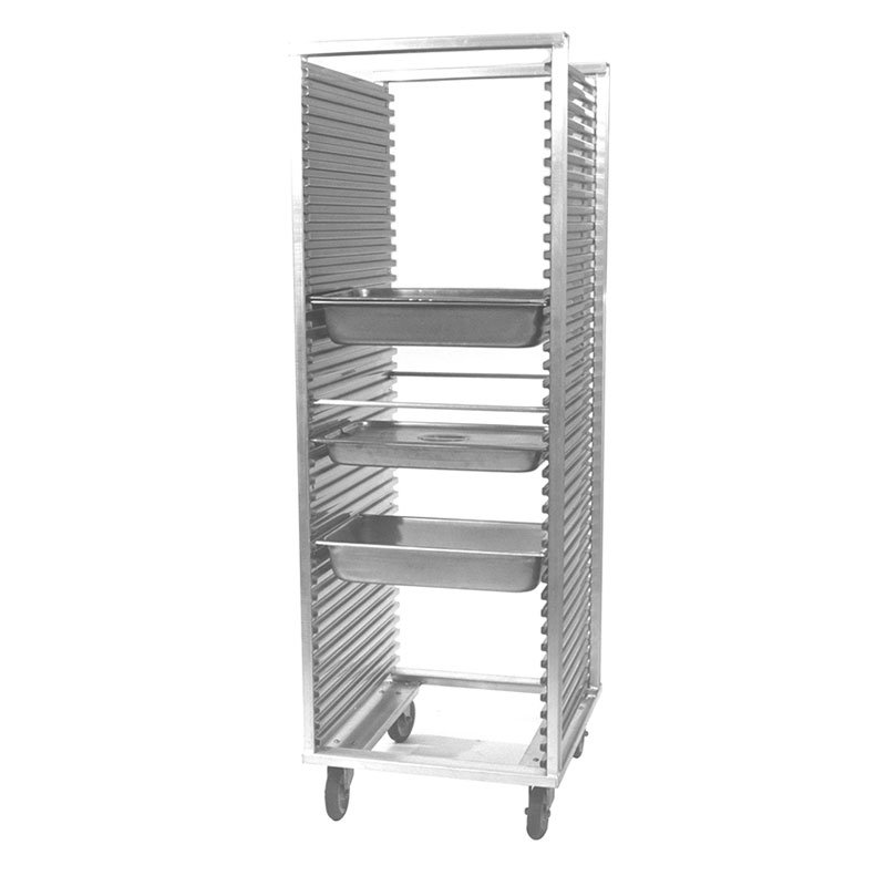 "Carter-Hoffmann O8639W 69-7/16"" Side Load Pan Rack w/ Extruded Side Panels, 39-Trays"