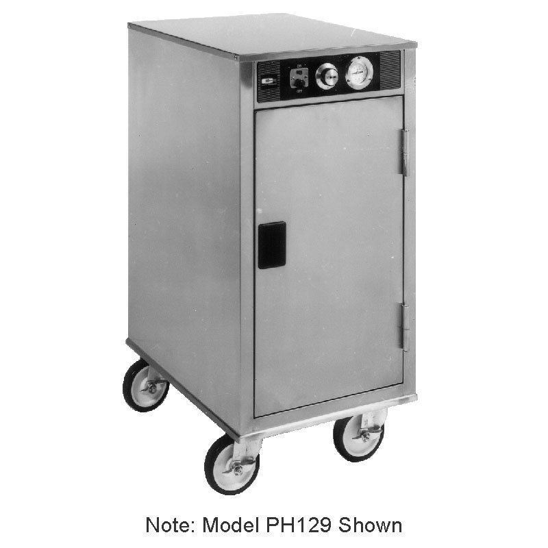 Carter-Hoffmann PH128 Mobile Heated Cabinet w/ Removable Slides, 8-Pans, 1-Door
