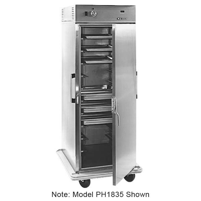 Carter-Hoffmann PH1815 Mobile Heated Cabinet w/ Adjustable Slides, 20-Pan Capacity