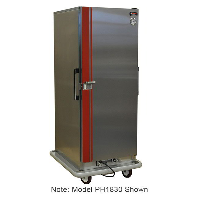 Carter-Hoffmann PH1860 Mobile Heated Cabinet w/ Adjustable Slides, 2-Doors, 50-Pans