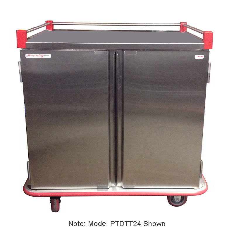 Carter-hoffmann PTDTT36 Patient Tray Cart - (2) Trays per Slide, 2-Door, (36) Tray Capacity
