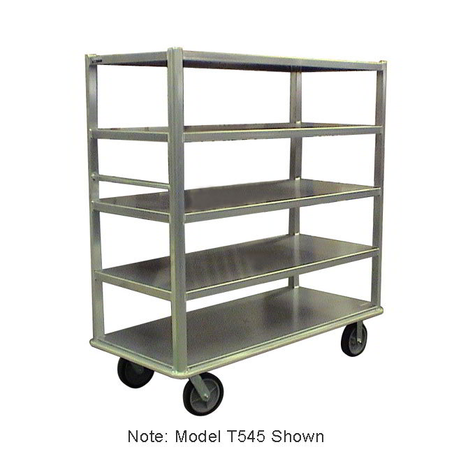 "Carter-Hoffmann T546 China/ Silver Transporter w/ Open Design, (6) 27x54"" Shelves"