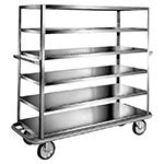 "Carter-Hoffmann T600 China/ Silver Transporter w/ Angle Frame, (6) 57x23-3/8"" Shelves"