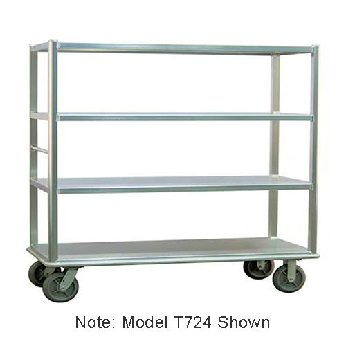 "Carter-Hoffmann T725 China/ Silver Transporter w/ Open Design, (5) 27x72"" Shelves"