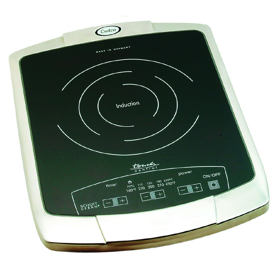 Cadco BIR1C Countertop Commercial Induction Cooktop w/ (1) Burner, 120v