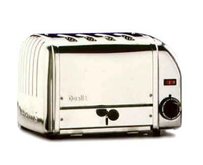 Cadco CTS-4(208) 4-Slice Bread Toaster w/ 1-in slots, Manual Controls, 208 V