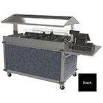 "Cadco CBC-GG-4-L6 85.25"" Mobile Merchandising Cart w/ (2) Wells - Black, 120v"