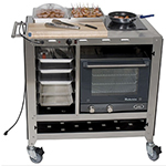 Cadco CBC-SDC-L6 Mobile Sampling Demo Food Cart - Double Buffet Server, 120v